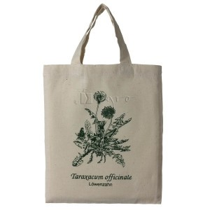 small cotton tote with herbal print Dandelion