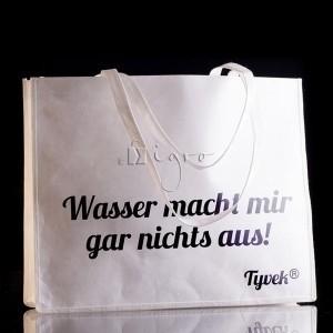 Breite Tyvek Tasche mit langen Henkeln, wasserfest