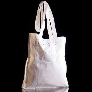 Tyvek promo bag with long handles made by Igro