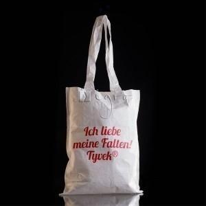 Flache Tyvek Einkaufstasche mit langen Henkeln