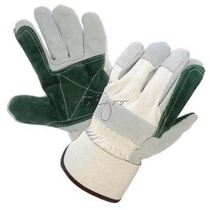 Arbeitshandschuhe mit doppellagiger grüner Handfläche
