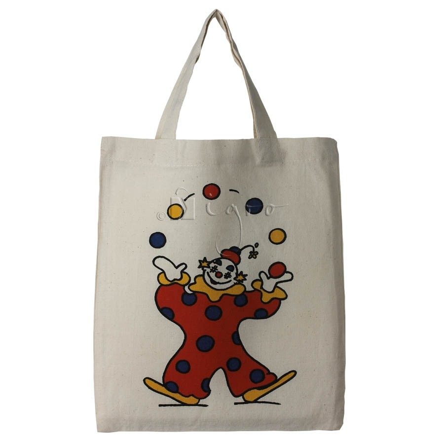 small cotton shopping bag with short handles