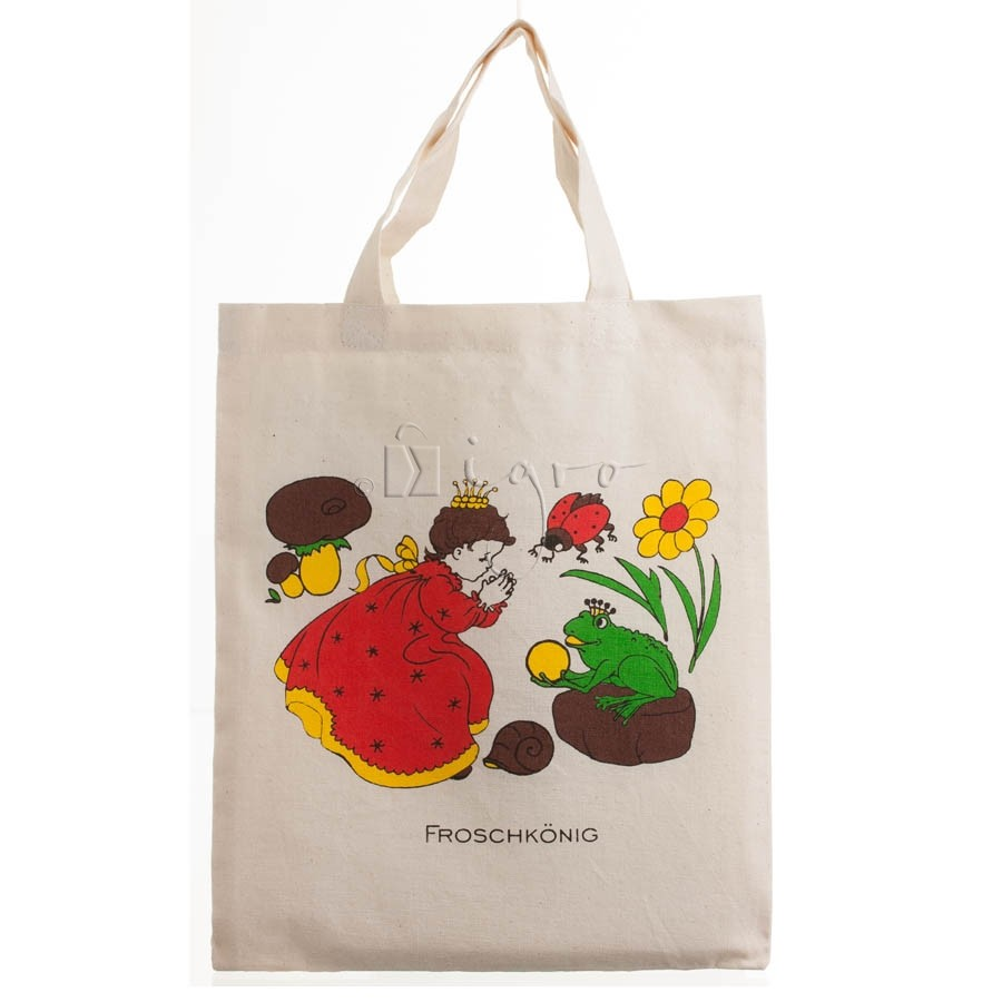 small cotton totes with fairytale print