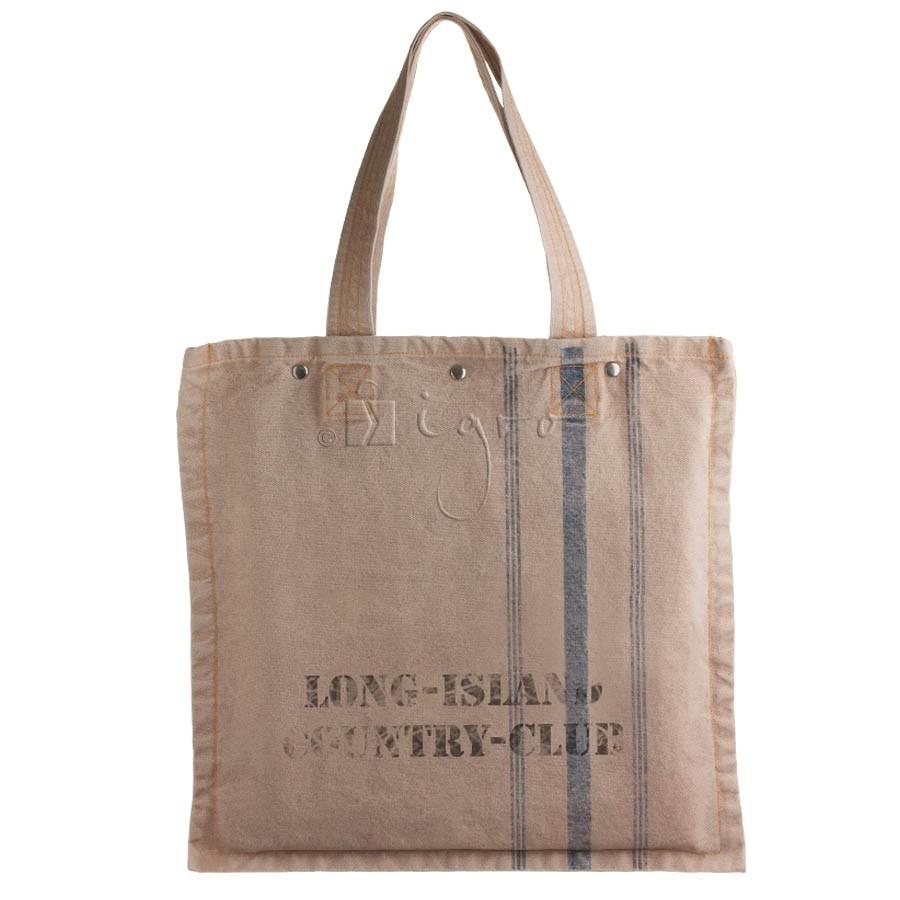 Canvas shoulder bag vintage style