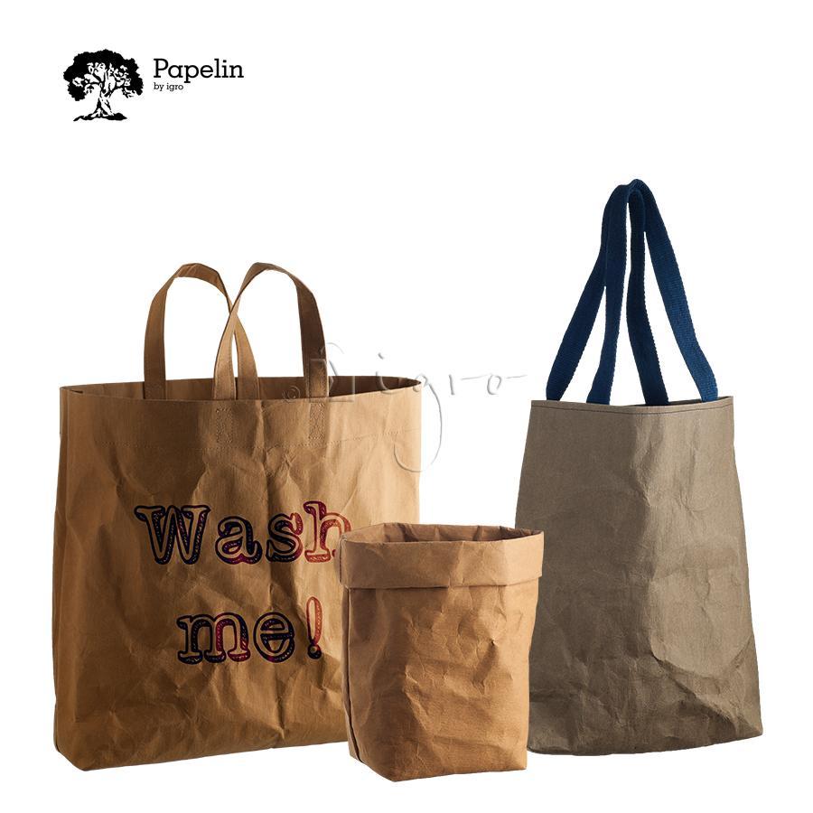 Washable paper bags – large carry bag,  short handles