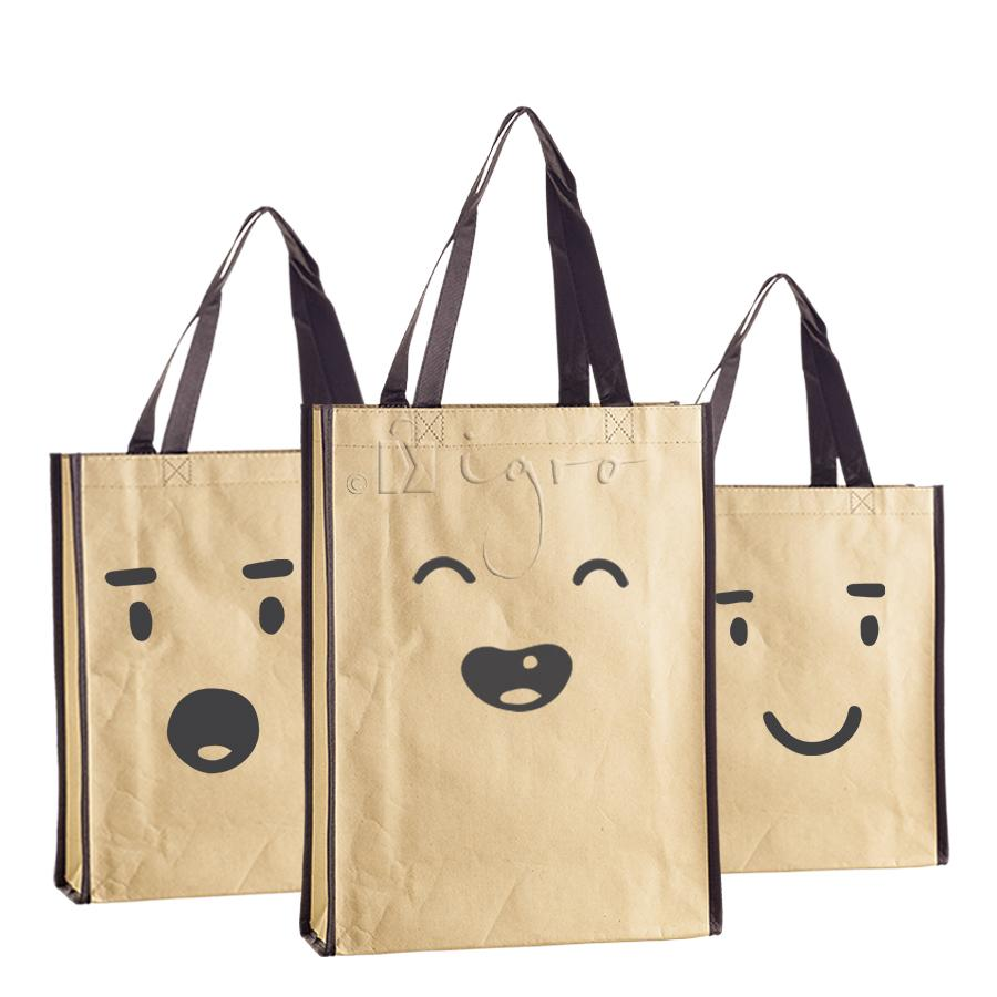 Kraft paper bags with PP non-woven