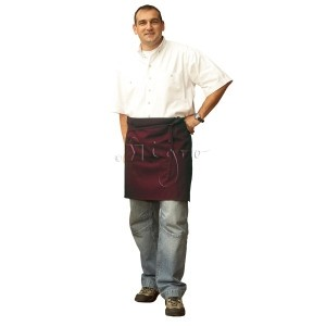 Easy-care short apron: ideal for restaurants and catering industry