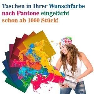 Schon ab 1000 Stück färben wir Baumwolltaschen ein