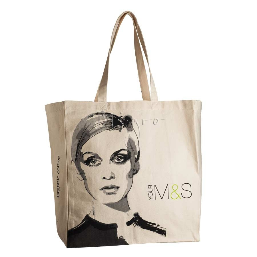 Large Shopping tote in heavy duty canvas