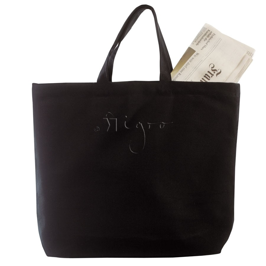 Canvas shopper with gusset