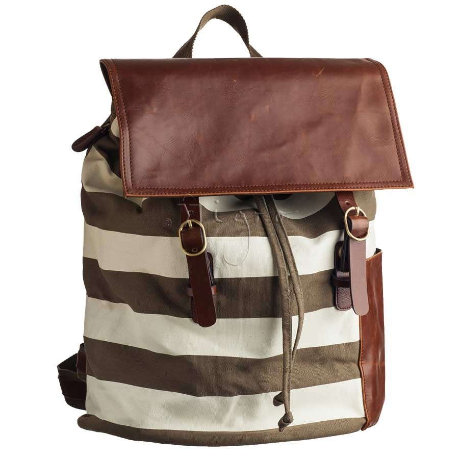 Striped Ccotton backpack