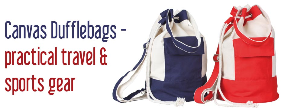 Canvas dufflebags by Igro