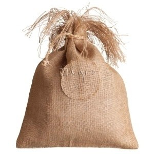 Jute sacklet with drawstring custom made by Igro