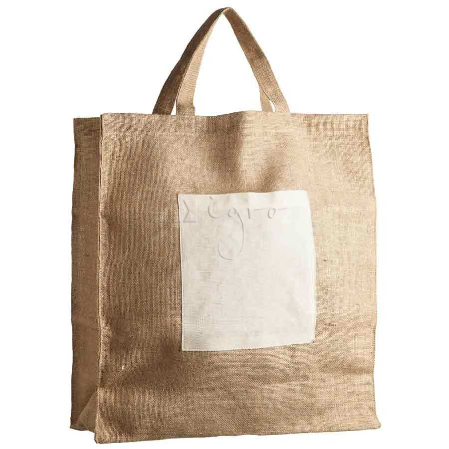 Large Jute Shopper with gussets