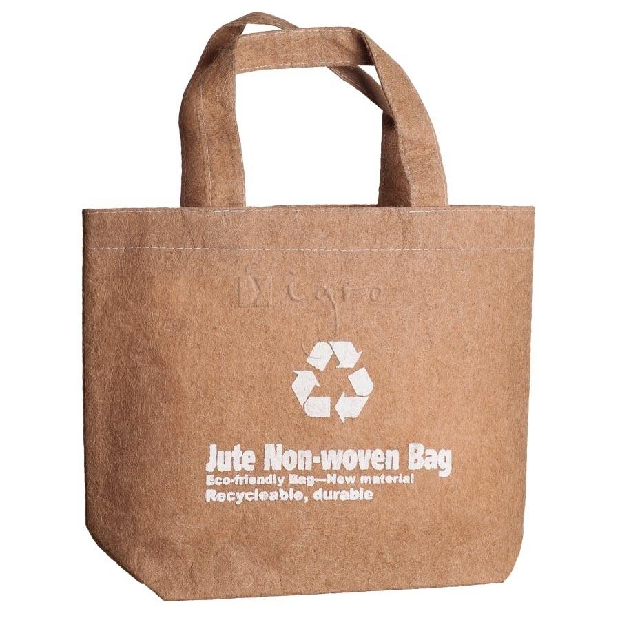 Book Bag, Jute Fleece