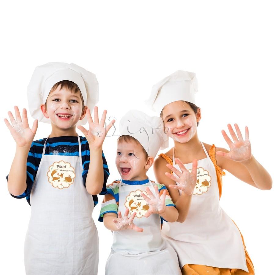 bedruckte Kinderschürze aus Baumwolle