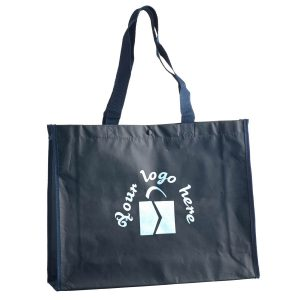 PP non-woven carry bag black with lamination