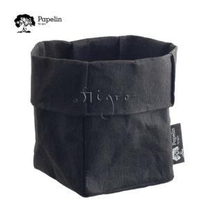 waschbares papier schwarze krempeltasche