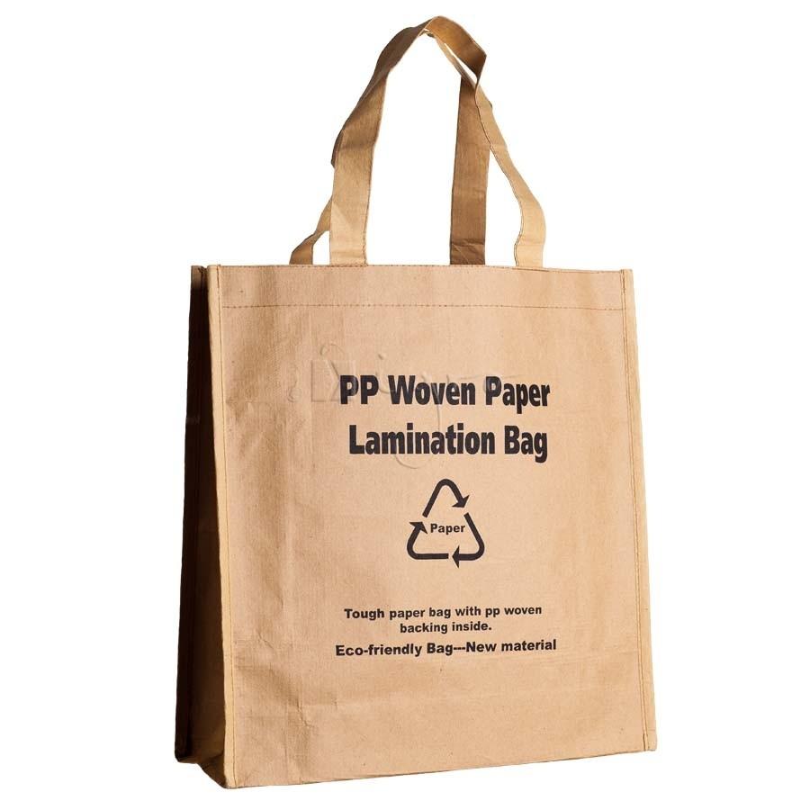 Starke PP Tasche mit Papierlaminierung