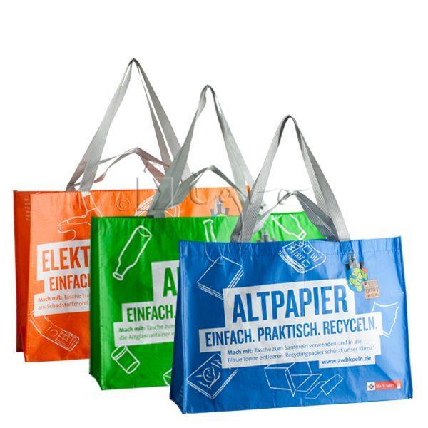R-PET Recyclingtaschen Permanenttaschen