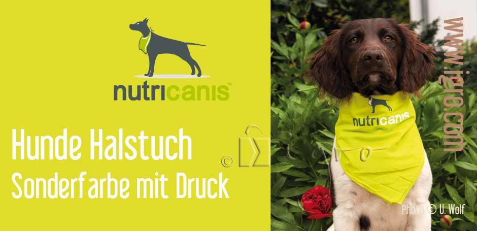 Sonderanfertigung Hunde-Halstuch bedruckt