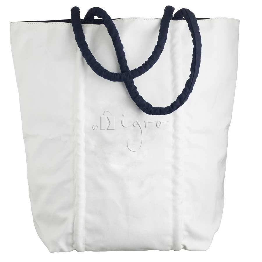 Strandtasche aus Baumwolle mit Kordeln
